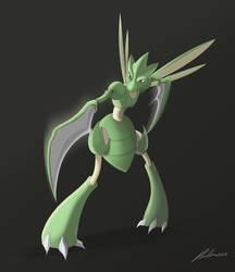 Pokemon Challenge Day 1 - Bug - Scyther