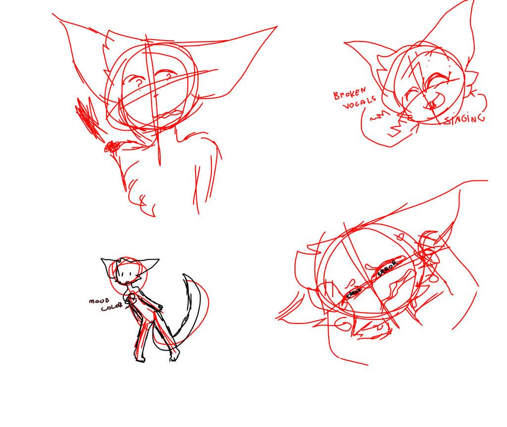 sketches bc i have a big art block