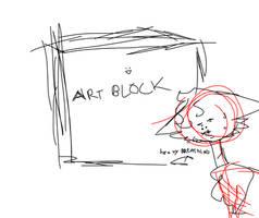 nerissa being eaten alive by my huge art block