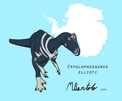 Cryolophosaurus ellioti by Australianmarcus by AustralianMarcus
