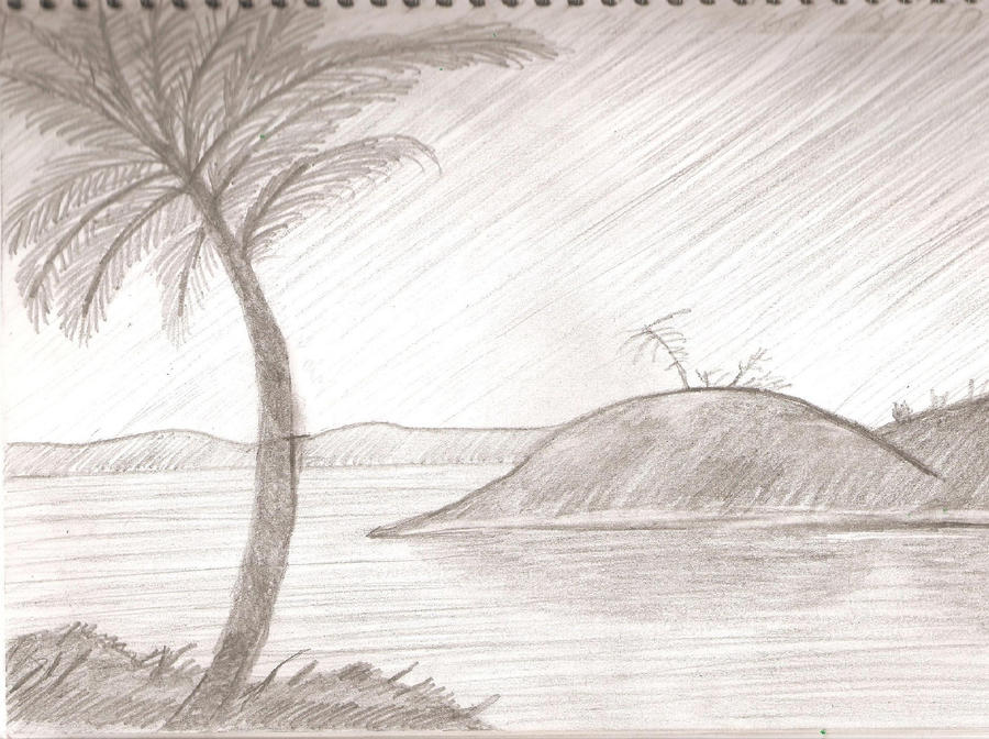 Scenery Sketch by MacktheKnifeNS