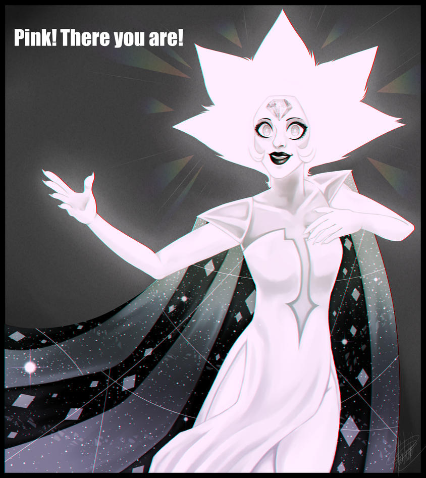 OMG I CAN'T BELIEVE THAT WE'VE FINALLY SAW WHITE DIAMOND! She's creepy!! I don't have much to say today but, I can't wait to see the next episode of Steven Universe!! Hope you guys like my drawing!
