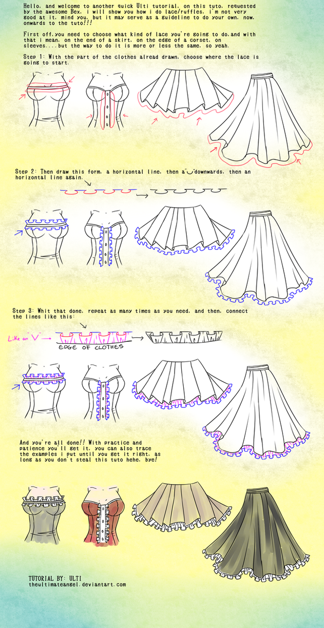 Quick Lace/ruffles tutorial by TheULTImateAngel
