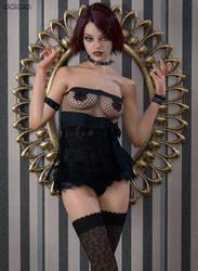 066 - Sexy Goth Girl by uawa