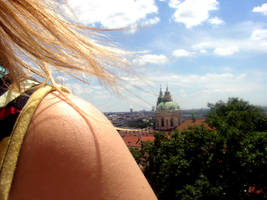 Prague over her Shoulder by Rebelsheepgomooo