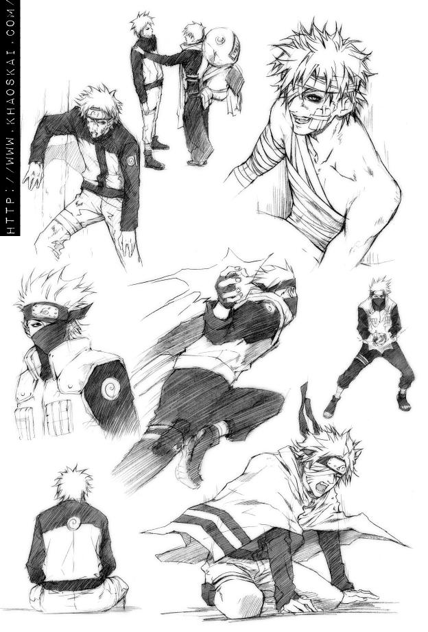 NARUTO.sketches by khaoskai