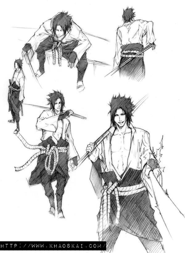 Sasuke.sketches by khaoskai