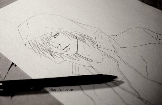 Yuri sketch by khaoskai
