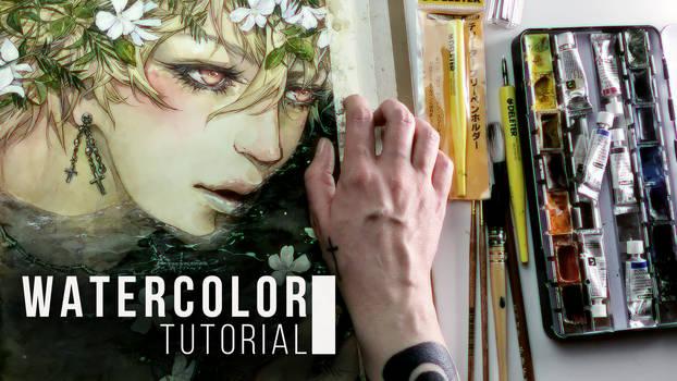 [WATERCOLOR TUTORIAL] Materials for drawing Manga