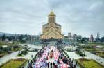 Tbilisi Sameba Cathedral by Georgiann
