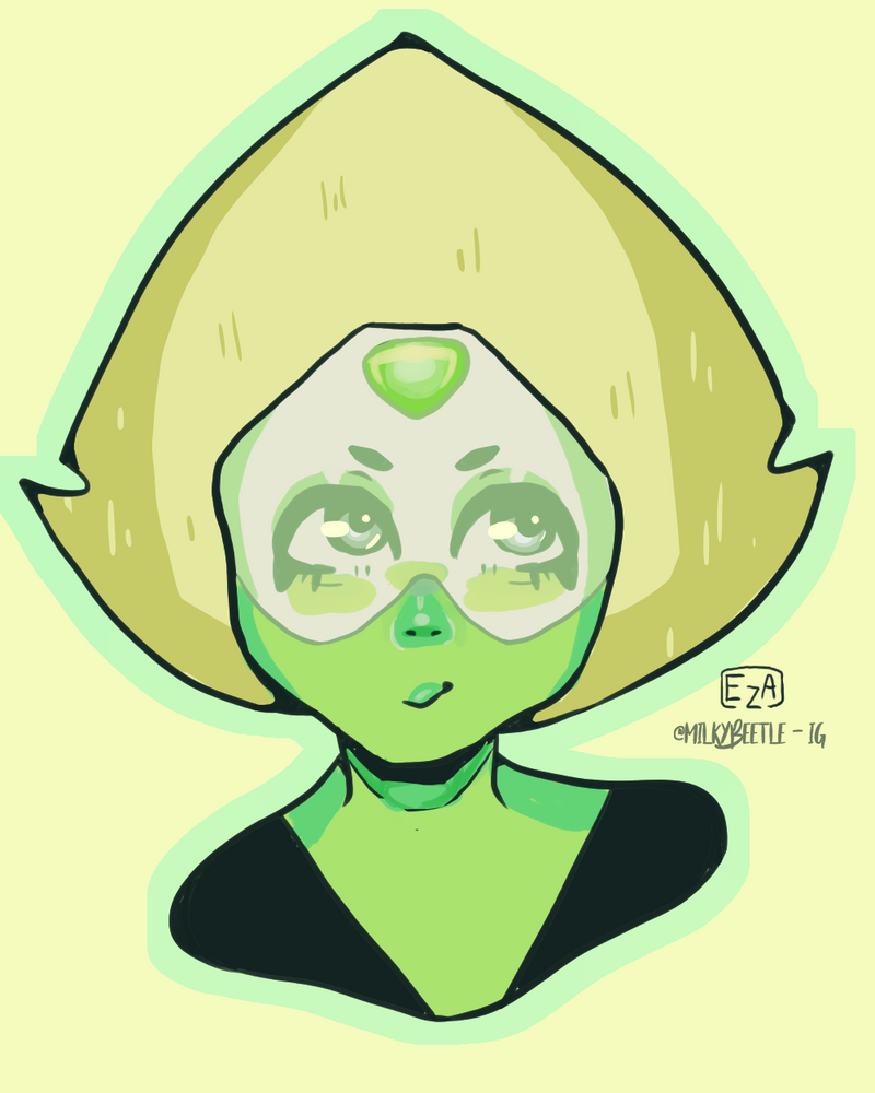 A lil quick experimental peridot drawing