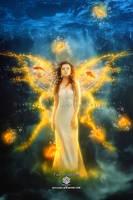 fairy of goldfish by EvyLeeArt