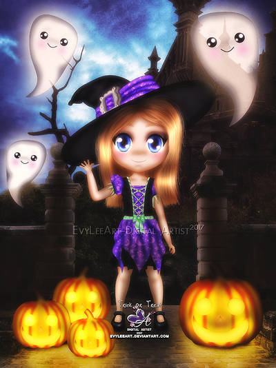 trick or treat 2017 by EvyLeeArt