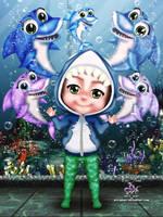Heitor Baby Shark by EvyLeeArt