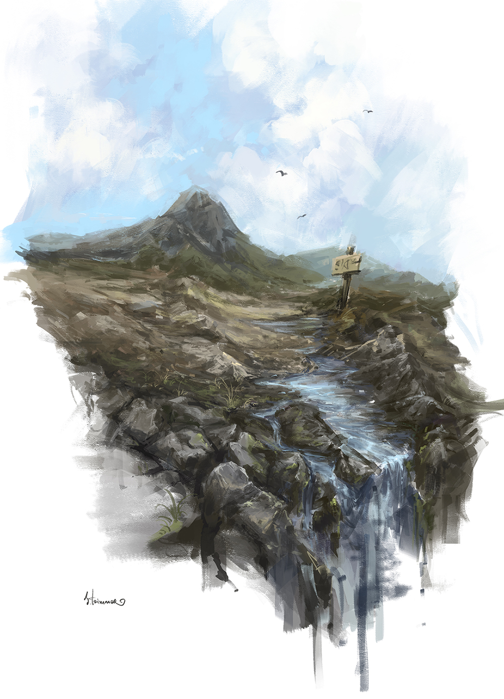 landscape sketch16 by TsimmerS