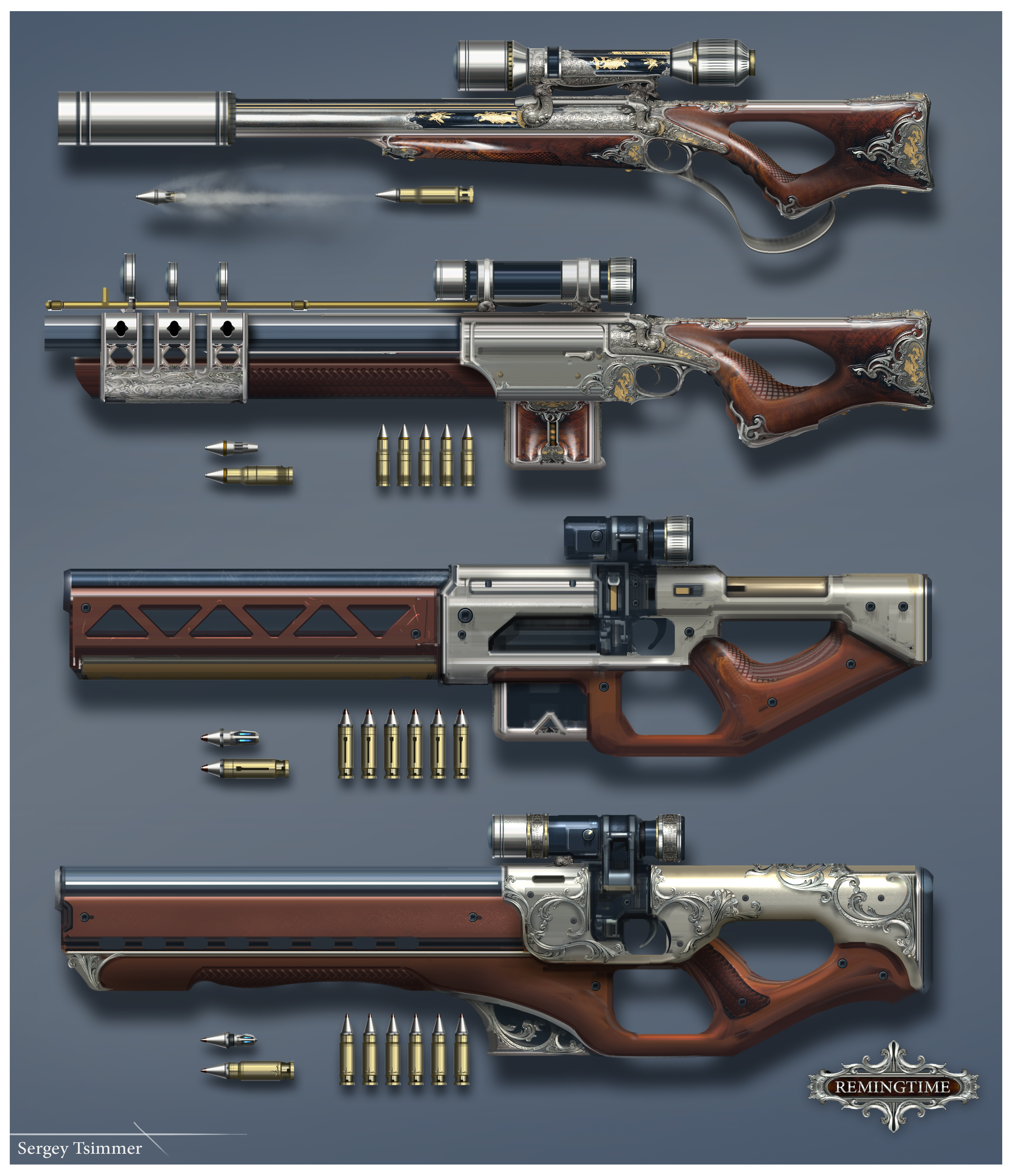 remingtime weapon by tsimmers on deviantart