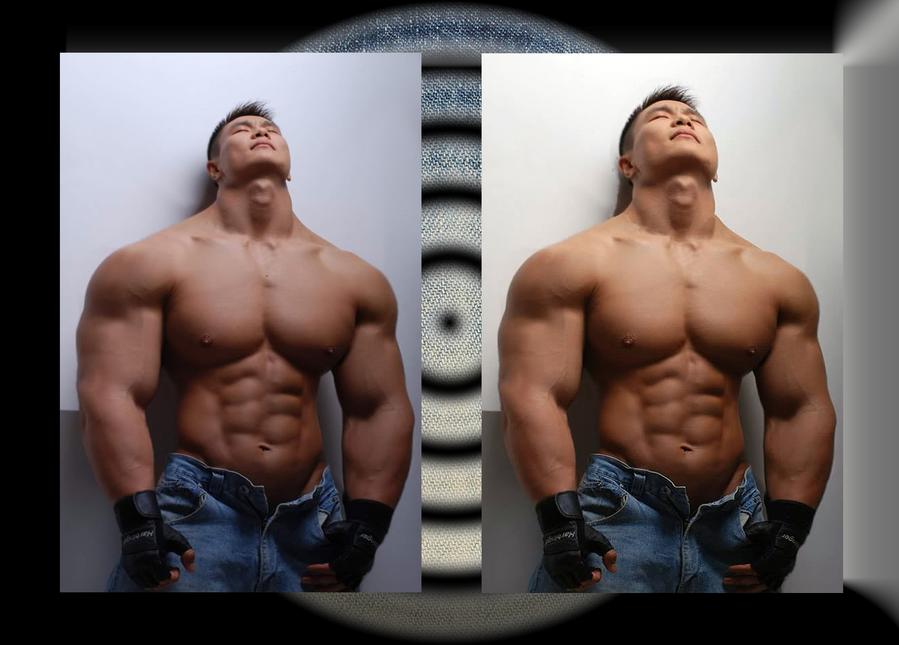Asian musclemorph comparison by jumbod on deviantart - Stonepiler bodybuilder ...