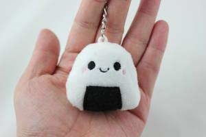 TINY Onigiri Sushi Plush Keychain by SweetEmii