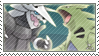 Aggron and Tyranita stamp by Stamp-Master