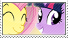 Point Commission: Twilight and Fluttershy stamp by Stamp-Master