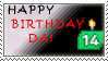 Happy 14th Birthday deviantART Stamp by Stamp-Master