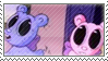 Fluffy and Uranus stamp by Stamp-Master