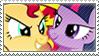 TwilightSparkle X SunsetShimmer stamp by Stamp-Master