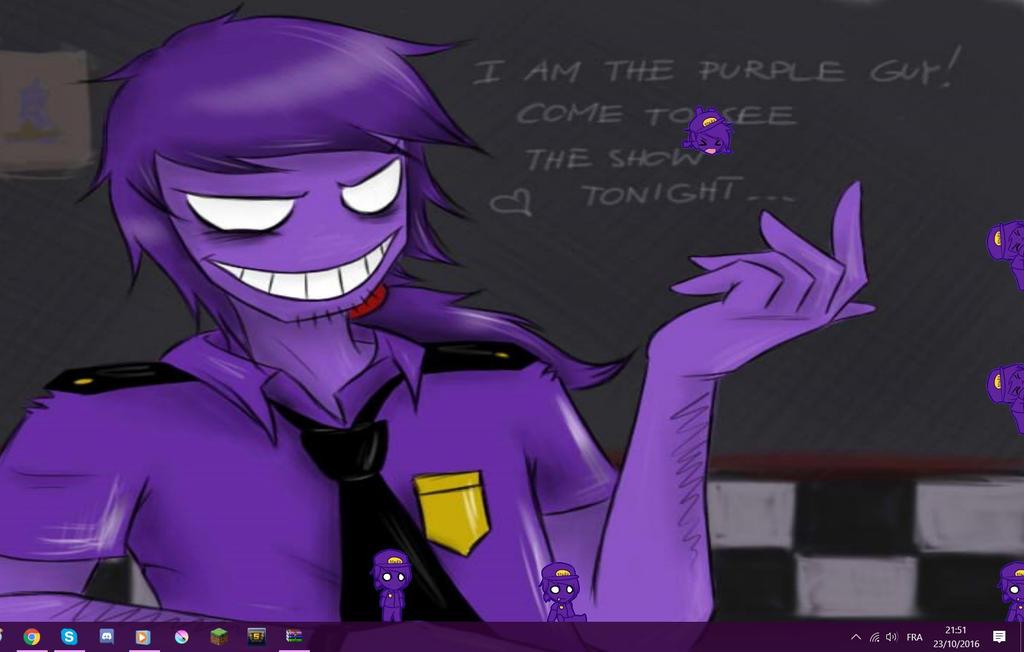 Purple Guy - Shimeji