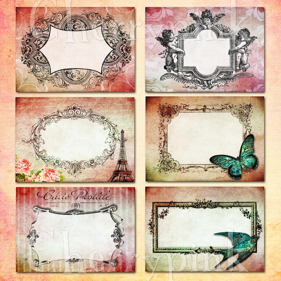 Vintage frame collage sheet by miabumbag on DeviantArt