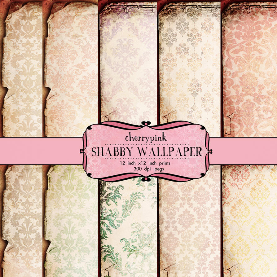 Scrapbook paper as wallpaper - Shabby Wallpaper Scrapbook Paper By Miabumbag