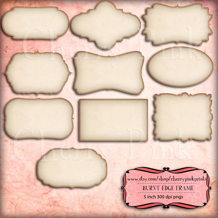 Shabby Burnt Frames for scrapbooking by miabumbag