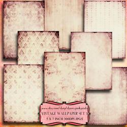 SHABBY WALLPAPER scrapbook collage sheet