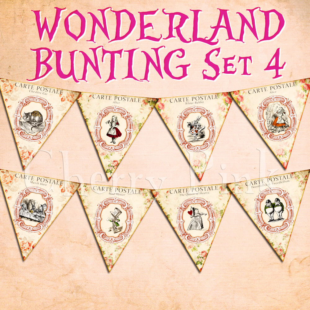 Alice In Wonderland Bunting By Miabumbag On Deviantart