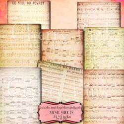 SHEET MUSIC Digital Collage Sheet