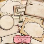 Scrapbook frame Blank Labels