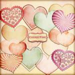 HEARTS Digital Clipart, Valentine clip art