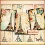 VINTAGE PARIS Digital Collage Sheet scrapbook