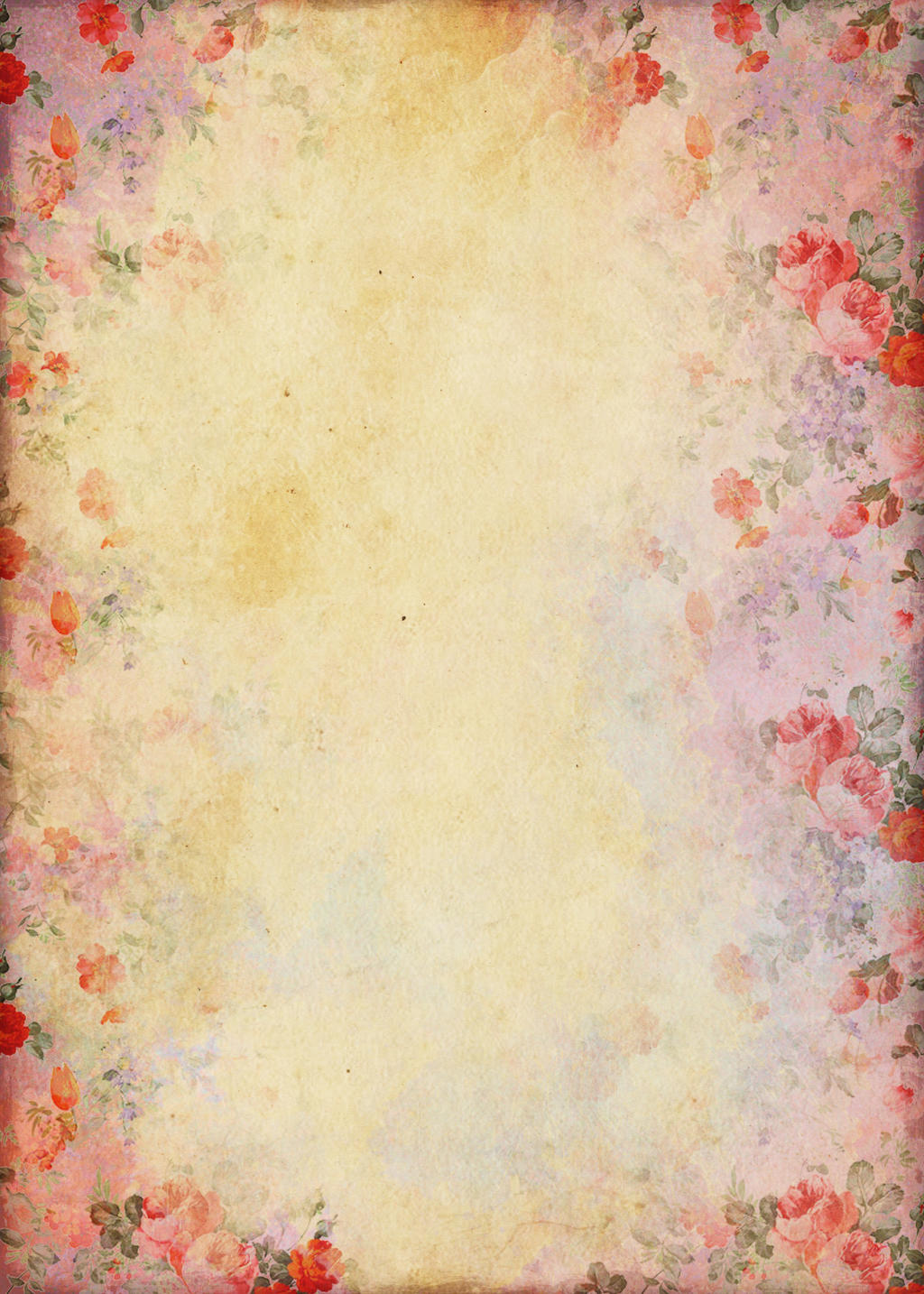 FREEBIE ~ Shabby Flower Paper background by miabumbag on ...