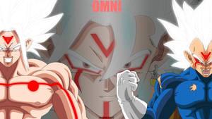 Super Saiyan White Goku, Vegeta and Vegito by Mitchell1406