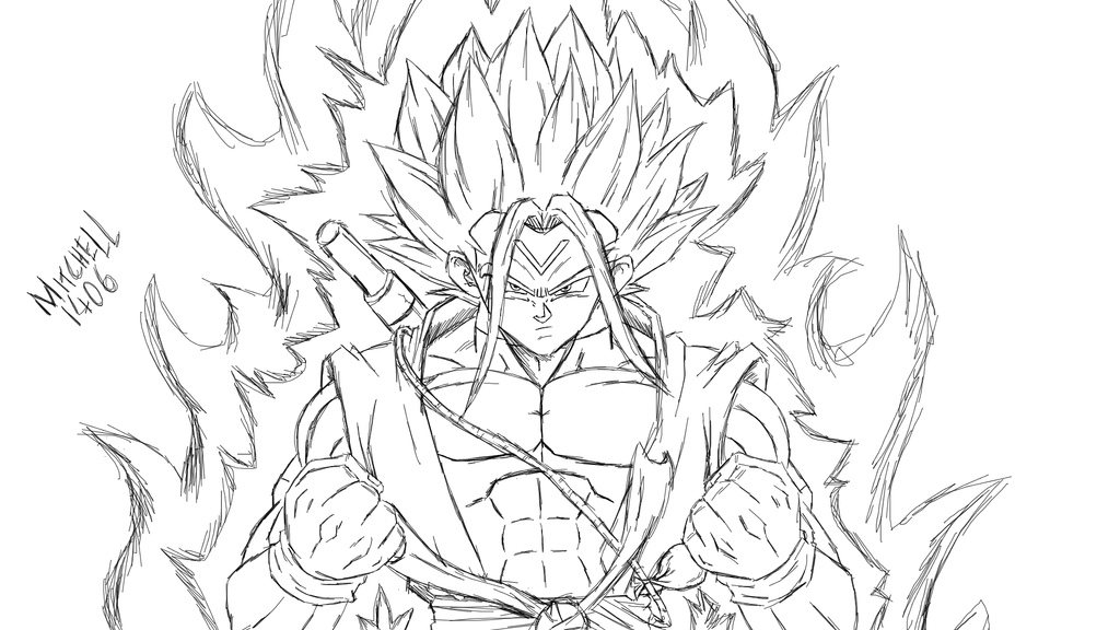 Goku Super Saiyan 1 Coloring Pages