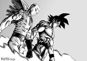 Goku and Saitama by Mitchell1406