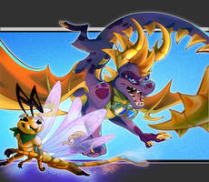 Own Redesign [Spyro and Sparx]