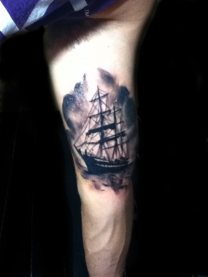 Ship Tattoo Small: Small Ship Tattoo By Drone80 On DeviantArt