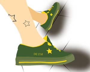 3 star converse one star