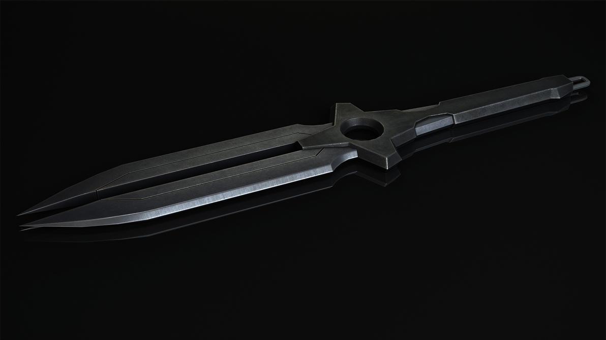 Darker Than Black  Heis Dagger Final Render By Rafael De Jongh On