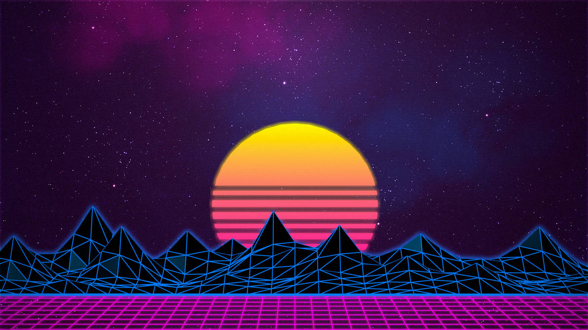 Synthwave/Retrowave - Neon 80s - Background by Rafael-De-Jongh on