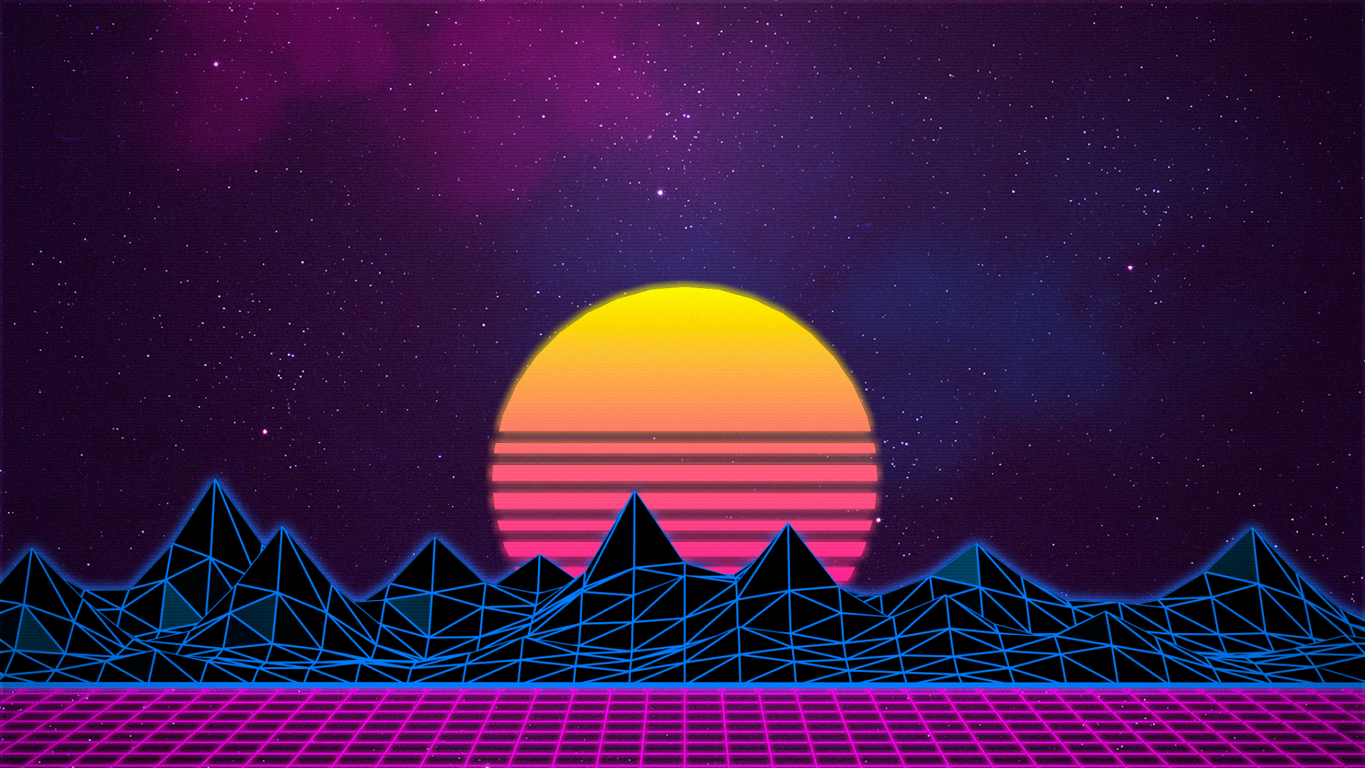 Synthwave/Retrowave - Neon 80s - Background