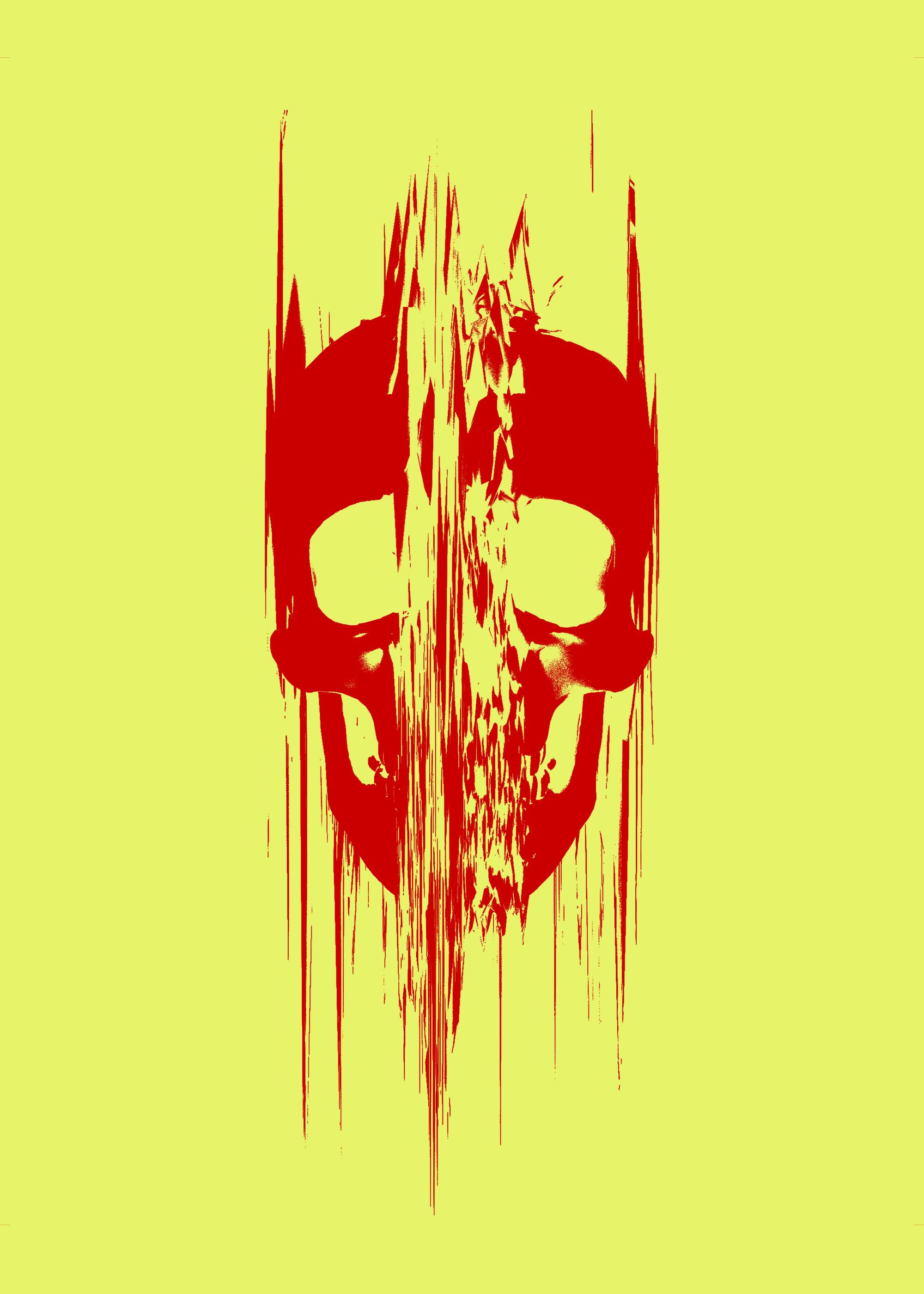Glitch Skull Flat by Rafael-De-Jongh