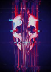 Glitch Skull Closeup by Rafael-De-Jongh