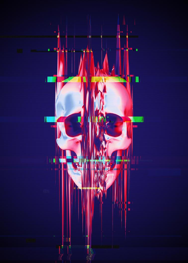 Glitch Skull - Full Format by Rafael-De-Jongh